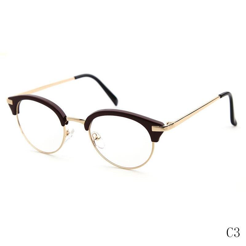 LongKeeper Halb Randlose Brille Rahmen Cat Eye Brillen Sexy Runde ...