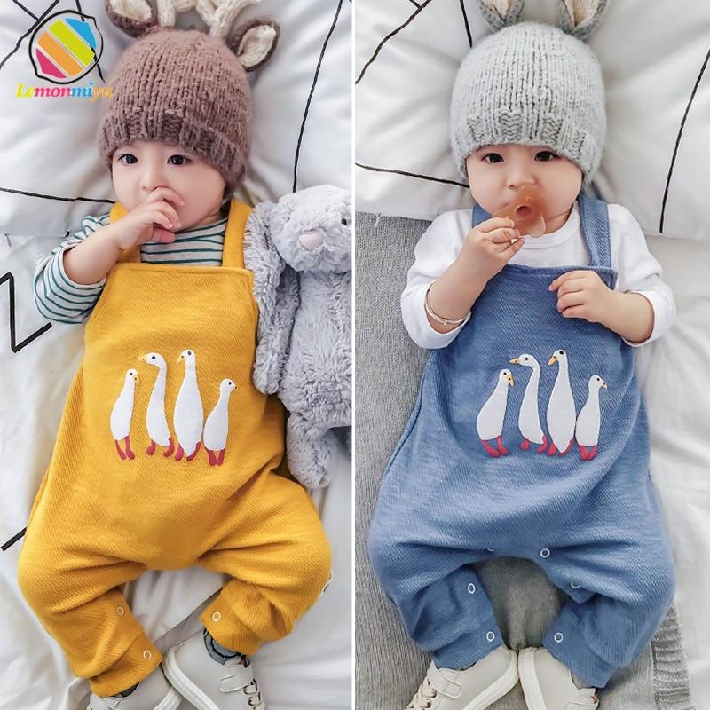 Lemonmiyu Leggings Pants Trousers Overalls Newborn Baby-Boys-Girls Cotton Harem Toddler