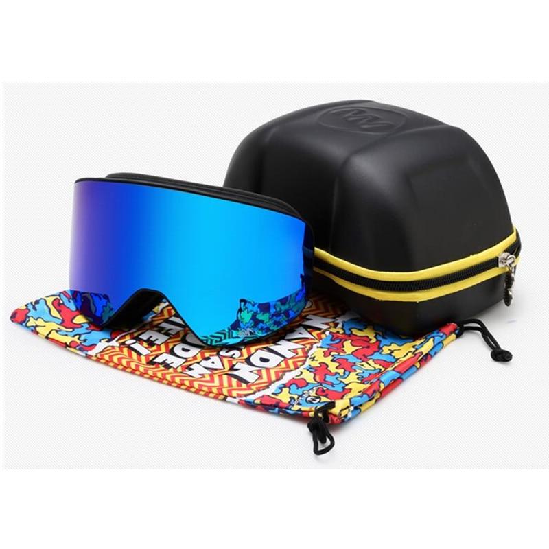 Prix pour NANDN Marque Date Professionnel Ski Lunettes Double Lentille UV400 Anti-Brouillard Adulte Snowboard Ski Lunettes Femmes Hommes Neige Lunettes