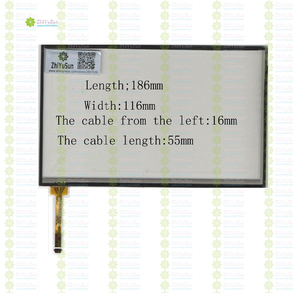 ZhiYuSun KDT-5045  186mm*116mm 8inch  4lines NEW touch screen panel TOUCH glass sensor 186*116 for DVD car  touch screen beijer electronics ab exter t100 using front glass panel kdt 544 new goods