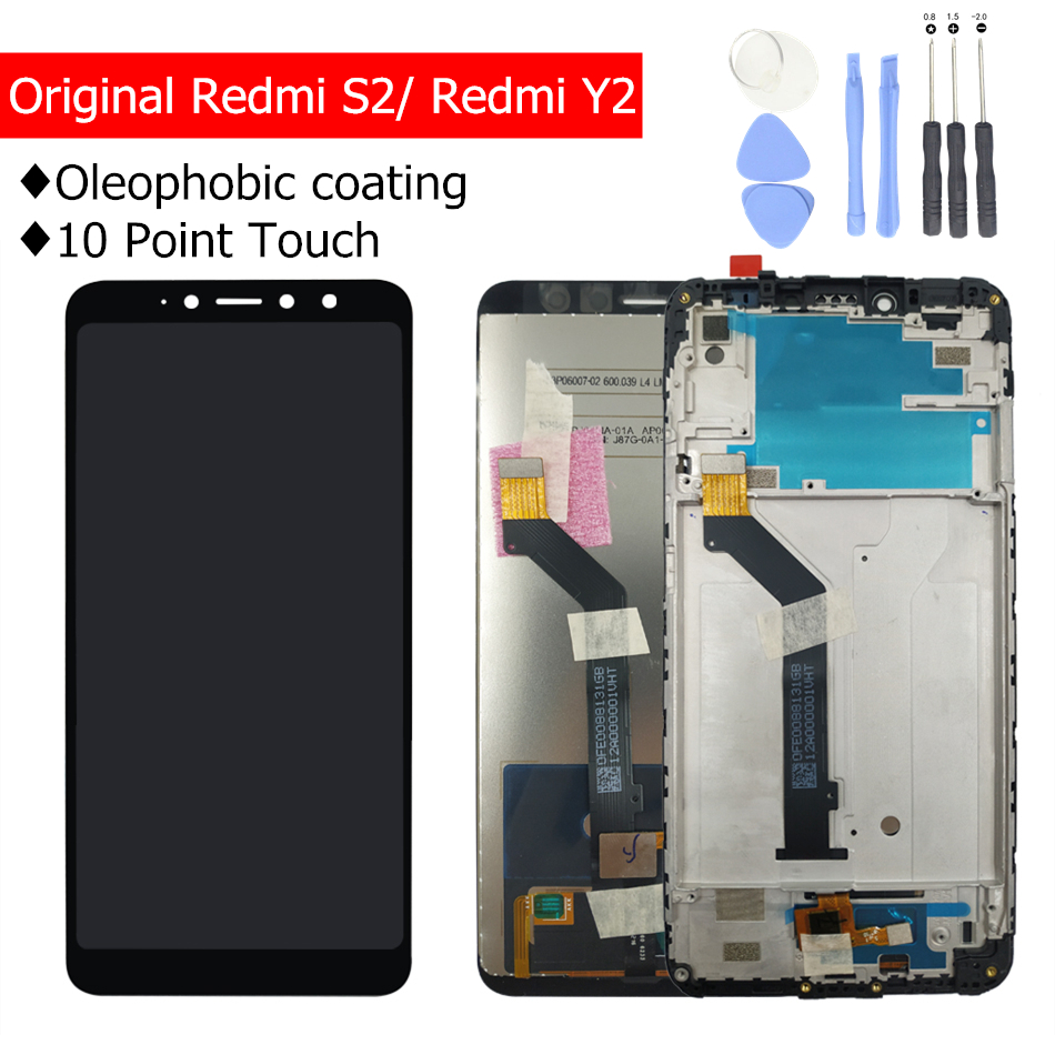 100% Original Xiaomi Redmi S2 LCD Display Screen Touch Digitizer with Frame LCD Display for Xiaomi Redmi Y2 10 Touch Point Parts-in Mobile Phone LCD Screens from Cellphones & Telecommunications