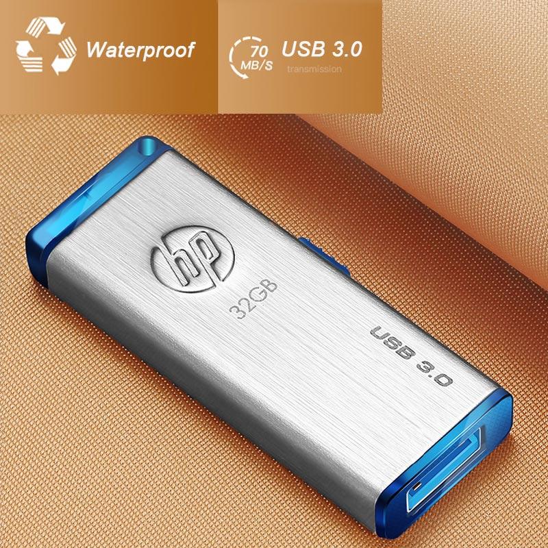Clé USB HP métal 512 gb clé usb x730w clé USB 300 mo/s Clef USB 3.0 disque sur clé clés usb originales 512G