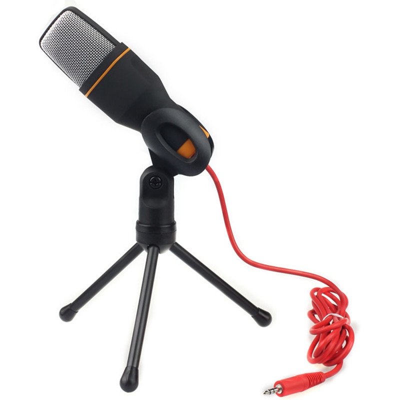 Wired Microphone USB Condenser Studio Sound Recording with Stand for Radio Braodcasting Chatting Singing Skype Recording
