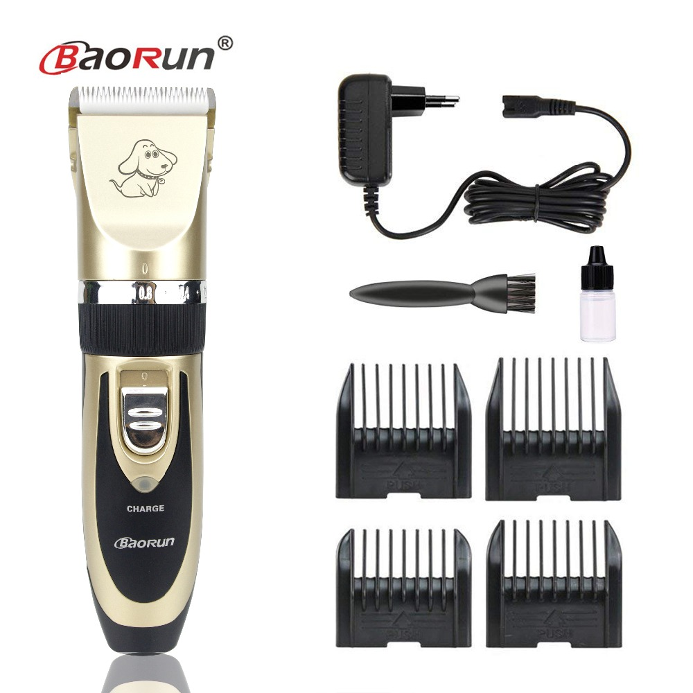 2018 profesional Grooming Kit recargable Pet Cat Dog Hair Trimmer eléctrico de alta calidad Clipper Shaver Set Haircut Machine