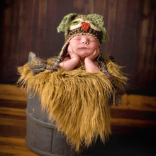 1Pc New Baby Photography Props Blanket Basket Rayon Wraps Faux Fur Wrap Newborn Photo Wraps Hammock Swaddling Padding Nubble