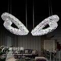 Светодиодная 2 осветительная люстра 40 Вт k9 с кристаллами  Модная современная люстра в форме сердца  лампа для столовой  лампа для спальни
