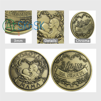 1pcs/lot Best gifts Russian mother anniversary coins collectibles Fashion antique bronze plated medals MAMA coins of Russia gift