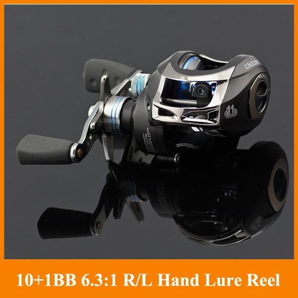 ФОТО Hot Sale!! 11BB Fishing Reel 6.3:1 Right or Left Hand baitcasting lure fishing reel 10+1bb Fishing Tackle line wheel