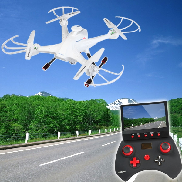 Lian Sheng LS-128 Sky Hunter FPV Real Time Transmission RC Quadcopter with HD Camera Headless Mode 2.4G 6 Axis Gyro Drone RTF