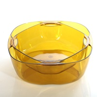 Double Deck Fruit Tray In Japanese Living Room Transparent Plastic Dry Fruit