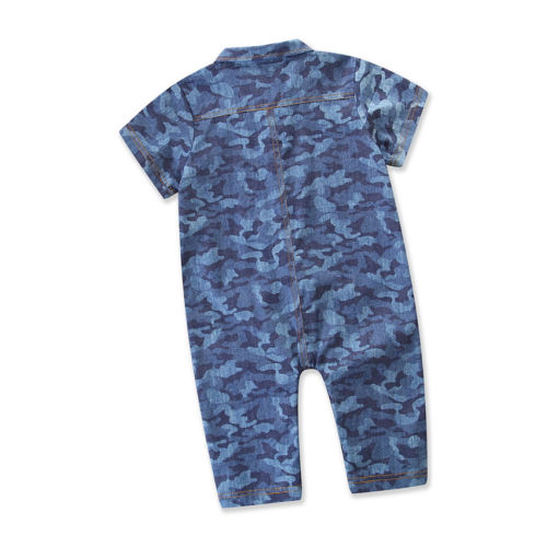 Toddler Baby Boys Girls Jumpers Outfit Camouflage Jumpsuit Print Romper Clothing