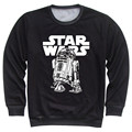 Joyonly 2017 Men's Fleece Sweatshirt Star Wars Gun Music Pug Print 3D Hoodies Long Sleeve Pullovers Clothing Man Hoodies Tops