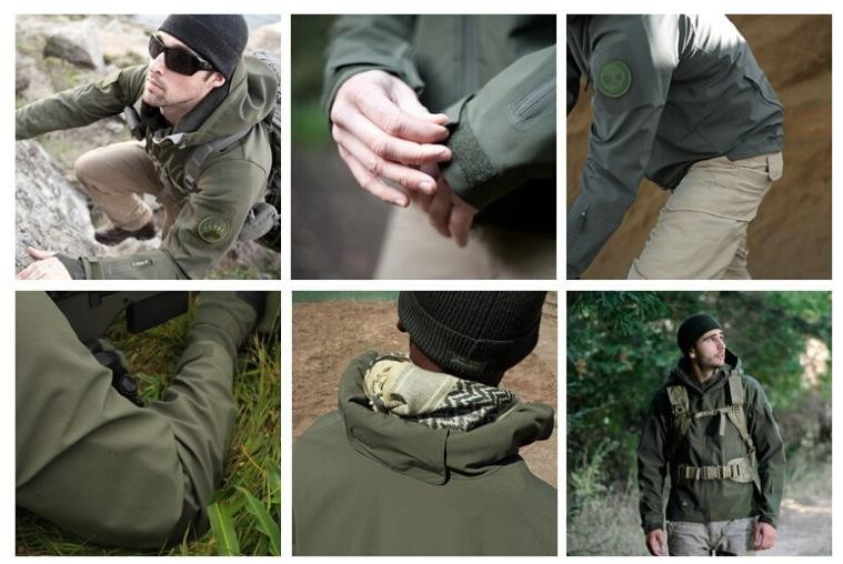Jaqueta militar uso externo de pele de