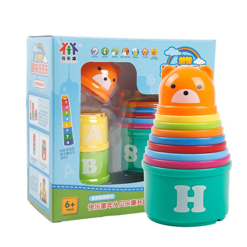 Игрушек! Горячая Распродажа развивающая пластмассовая игрушка красочные блоки чашек высокого качества цифровой Алфавит Детские игрушки 1 комплект