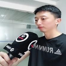 Linhuipad custom journalist Interview Mic voorruit microfoon foam Handheld voorruit met afdrukken logo Binnen Diameter: 4 CM