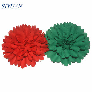 Image 4 - 50pcs/lot 3 Alternative Multilayer Chiffon Hair Flowers Without Clips For Garment Shoes Accessories FH32