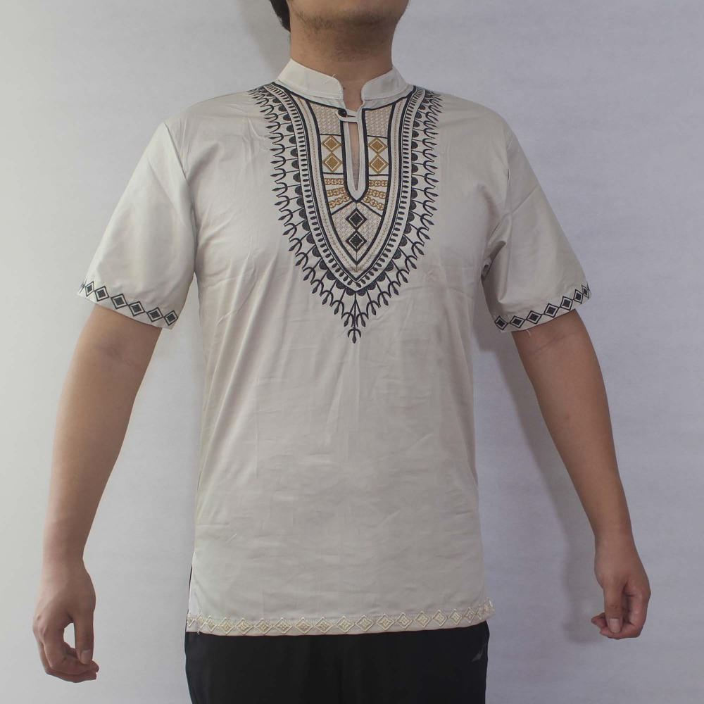Ethnic Embroidery Men s Dashiki Tops African Wear Male s Folk Shirts in Africa Clothing from Novelty Special Use