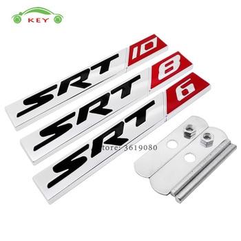 3d Auto Styling Grille Embleem Badge Stickers Voor Srt 6 8 10 Logo
