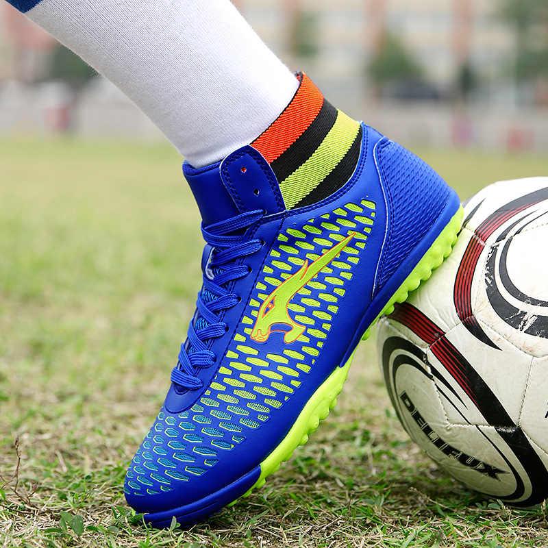 FANPAO Luipaard Legend Turf Hoge Top Vrouwen Mannen Kids Kinderen Boy Girl Training Athletic Voetbal Schoenen TF Student Voetbal Schoeisel
