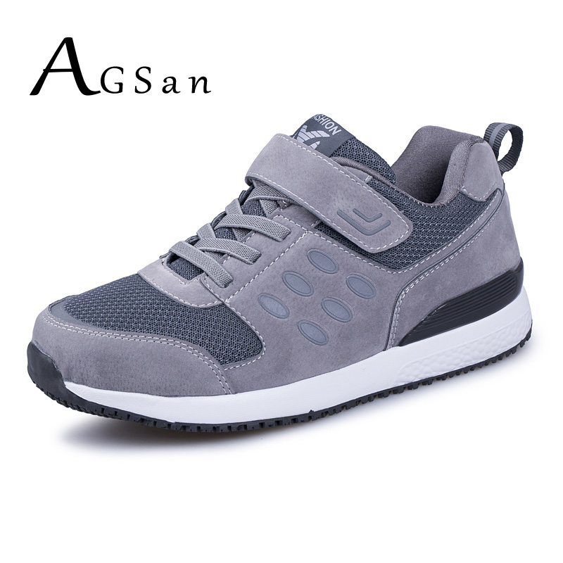 AGSan Men Suede Leather Casual Shoes Spring Autumn Sneakers Mens Comfortable Unisex Lovers Casual Shoes Gray Black 35-45 Flats мужские ботинки spring autumn hightop size38 45 2