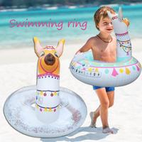 lovely Cartoon Pattern Baby Float Inflatable Alpaca Floating Row Summer Swimming Pool Toys for Children Water Entertainment