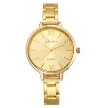 Geneva Fashion Women Quartz Wrist Watch Watches relogio feminino Stainless Steel Band Casual luxury Clock moda mujer Hours B30