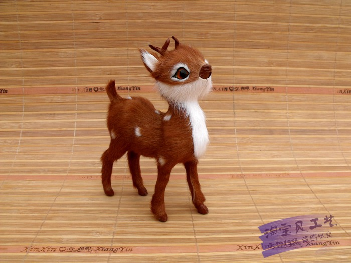 simulation sika deer model real fur deer 14x11cm model ,teaching model props home decoration gift h1478