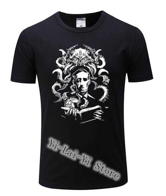 TShirts Homens Cthulhu luau gravar Novo Vindo T-Shirt dos homens Camiseta de Manga Curta Em Torno Do Pescoço T-shirt T Camisas Masculino Engraçado camiseta FTP G