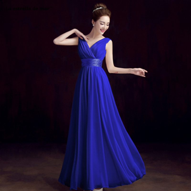 Robe demoiselle d'honneur hot chiffon sexy v neck royal blue champagne purple blue ivory red   bridesmaid     dresses   under $35