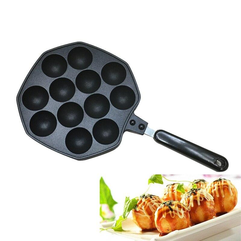 General household natural gas DIY octopus balls baked fish balls bread cake 12 holes metal non-stick pan mold kitchen cooking