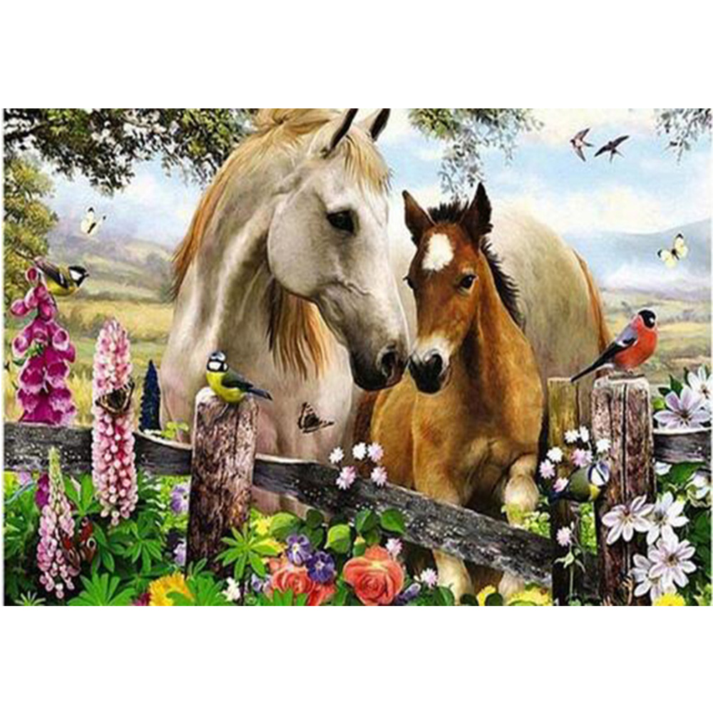 karstā pārdošanas DIY dimanta izšuvumi zirgi un putni mozaīkas - Māksla, amatniecība un šūšana