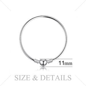 Image 2 - Bijoux palace Original 925 en argent Sterling chaîne bracelet Bracelets pour femme amour coeur Fit perles breloques argent 925 original bricolage