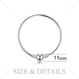 Image 2 - Jewelrypalace Original 925 Sterling Silver Chain Bangle Bracelets For Women Love Heart Fit Beads Charms silver 925 original DIY