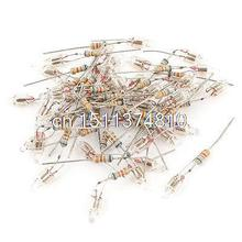 40 Pcs 4x10mm Head Orange Light Neon Bulb Indicator Lamp 100V-220V w Resistor