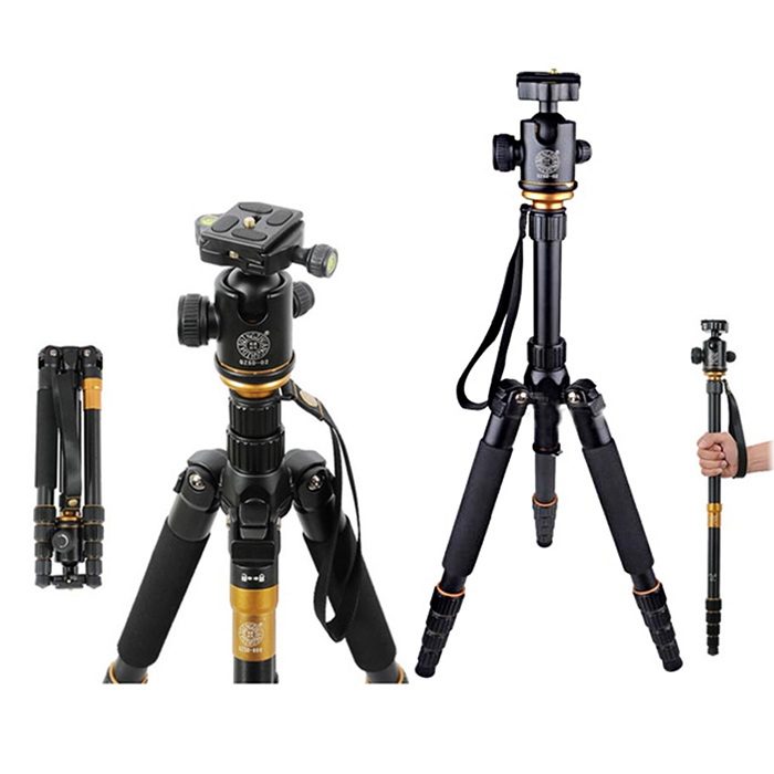 QZSD Q666 Camera Tripod 360 Degree Rotating Swivel Fluid Ball Head 1.5kg Load-Bearing Universal Accessory for DSLR DV Camcorder 2 54mm dupont wire cable jumper pin header connector housing kit 310 pcs male crimp pins female pin connector terminal pitch