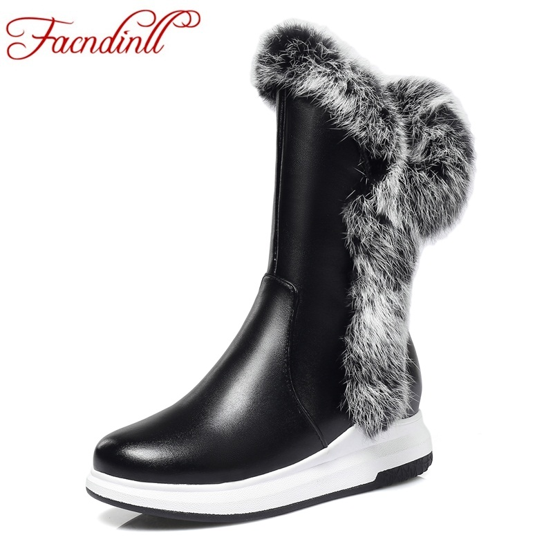 FACNDINLL new winter warm women snow boots high quality wedges med heel round toe shoes woman dress casual platform ankle boots fedonas top quality winter ankle boots women platform high heels genuine leather shoes woman warm plush snow motorcycle boots