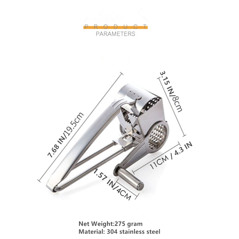Stailless Steel Cheese Plane Slicer Ginger Garlic Grater Slicer Cutter Food Chopper Garlic Press Crusher Rotary Cheese Gater in Cheese Graters from Home Garden