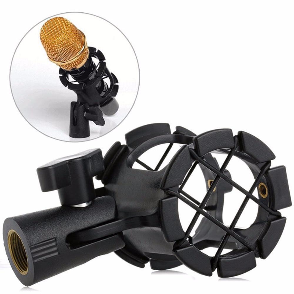Nb04 Erträglich Handheld Kondensator Mikrofon Shock Mount Clip Mic Halter Stehen Mikrofonstativ