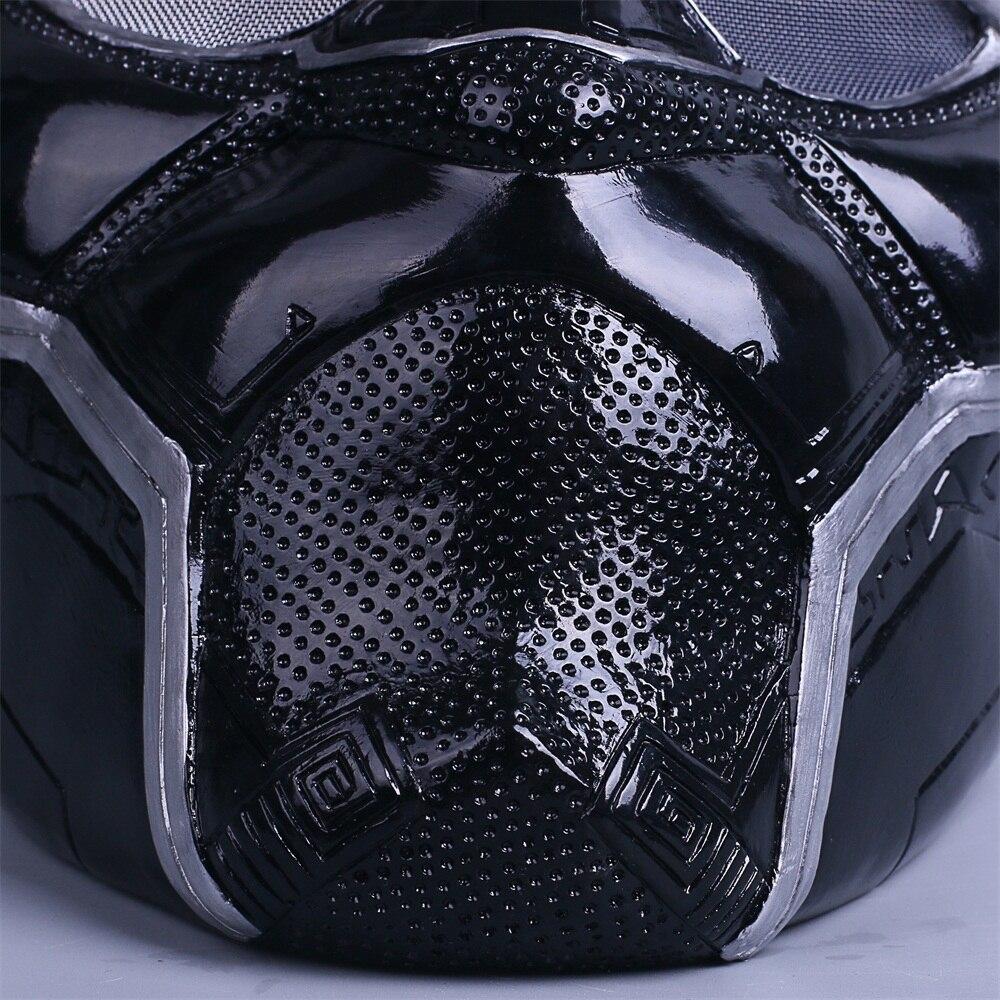 2018 New Black Panther Helmet Cosplay T'Challa Mask Costume Halloween Helmet Handmade PVC prop (10)