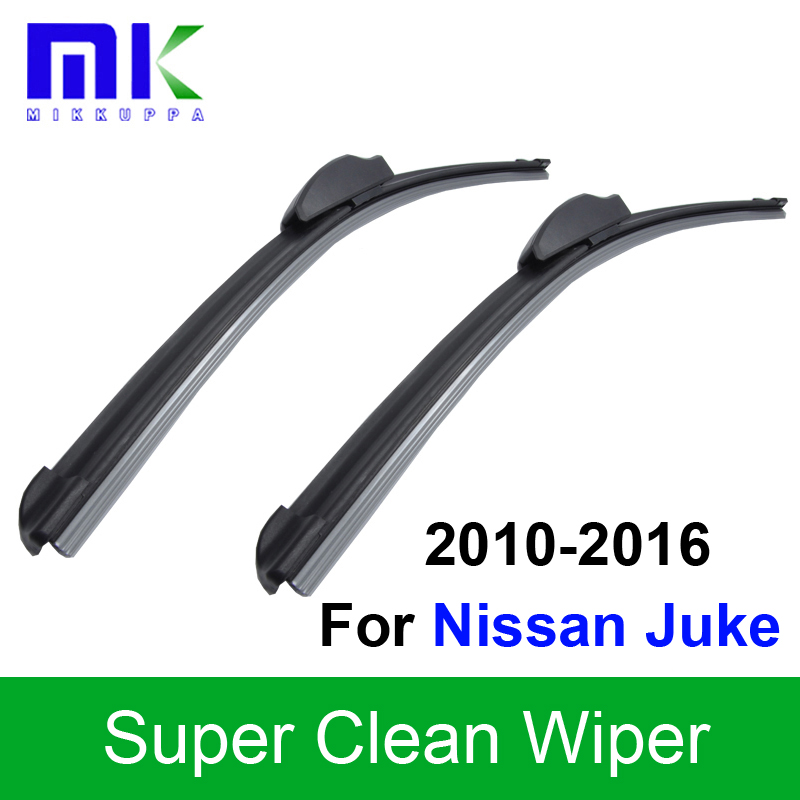Car Wiper Blades For Nissan Juke 2010 2011 2012 2013 2014 2015 2016 Silicone Rubber Windhsield Wipers Auto Styling Accessories
