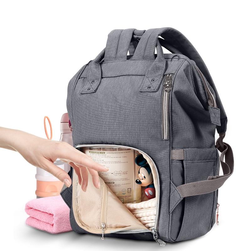 Disney Nappy Backpack Diaper Bag USB Heating Maternity Travel Backpack Large Capacity Nursing Bag Baby Care Mummy bag