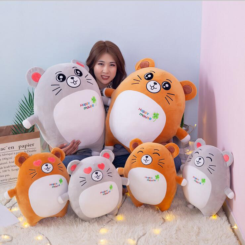 Creative Cartoon Happy Mouse Doll Plush Toys Stuffed Animal Toy Soft Pillow Children Gift