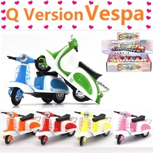 Metal Q version The Vespa Model Alloy Pull Back BEST Educational Toys