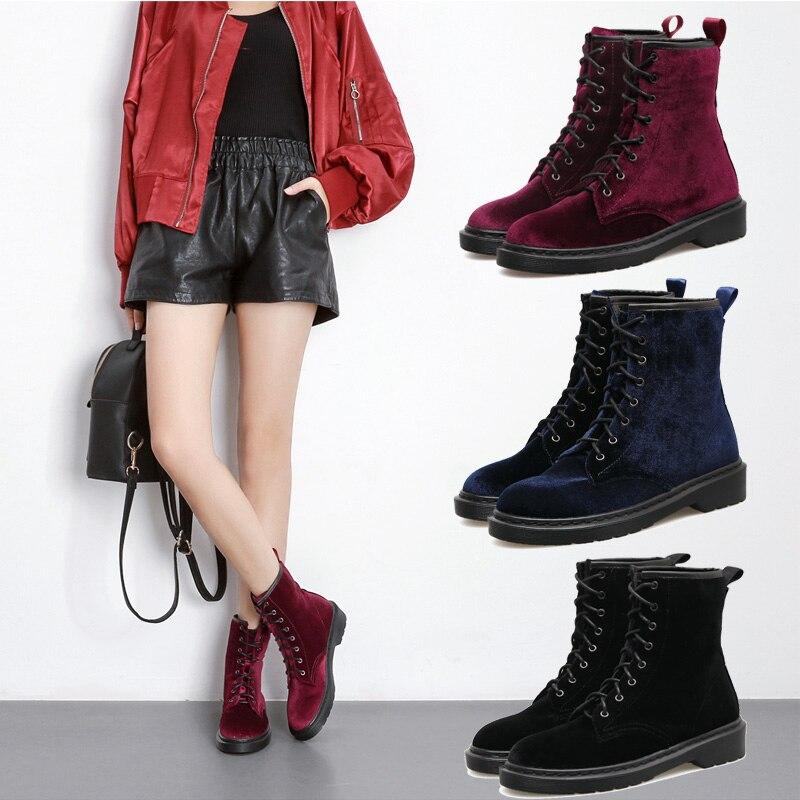 Botas femininas women boots 2017 women winter boots warm snow boots fashion platform shoes women ankle boots Black blue Wine Red