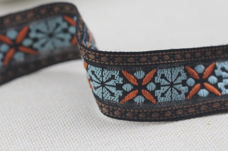 Diy Kledingstuk Accessoire Borduurwerk Jacquard Singels Tape Lint Lace Trim Gordijnstof Decoratie 3.2 Cm Etnische Boho Tribal Zakka Laatste Mode