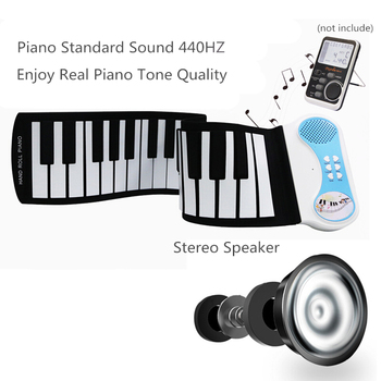 Sale Silicon Flexible Hand Roll Up Piano Electronic Keyboard Enlightenment for Children Students Music Performance and Training