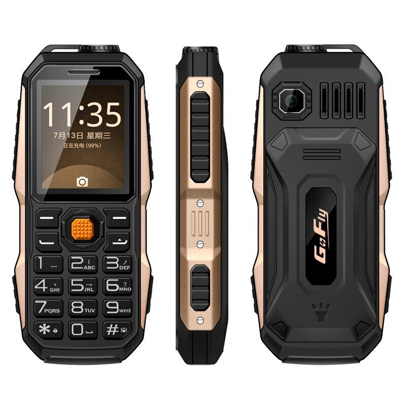GOFLY 6800 Big Sound Antichoc Antipoussière FM Radio 3800 mAh lampe de Poche Mp3 Puissance Banque Mobile Robuste Téléphone P011