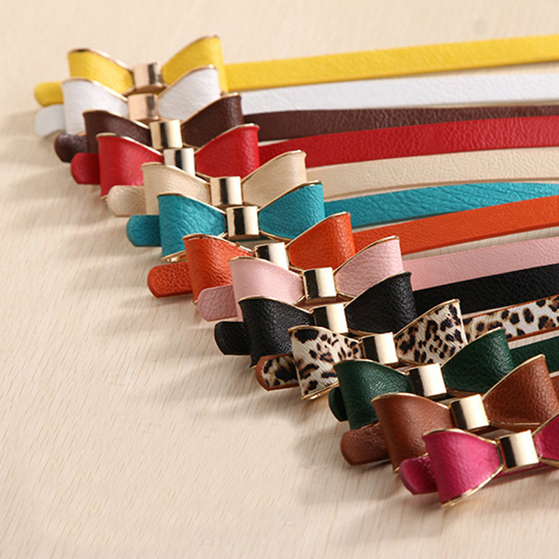 Wholesale World Factory Women Fashion Bowknot Buckle Waistband Wide Elastic Stretch Waist Belt Candy Color Wholesale/retail