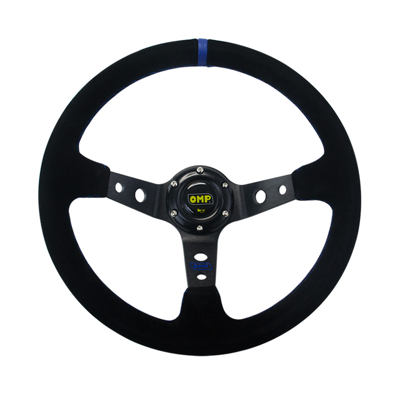 Image 3 - 14inch 350mm OMP Deep Corn Drifting Suede Leather Steering Wheel / Universal Car Auto Racing Steering wheels 3/Colors PQY SW21-in Steering Wheels & Steering Wheel Hubs from Automobiles & Motorcycles