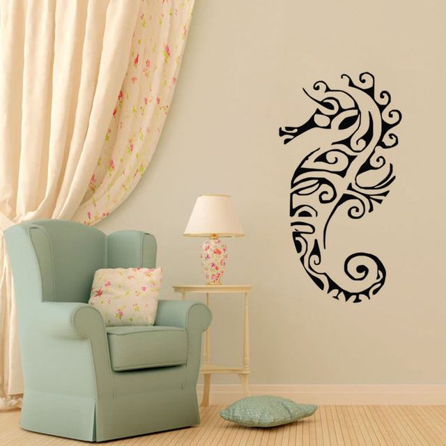 Seahorse Wall Stickers Cute Nursery Wall Decor Transfers Decals Vinyl Art  Wall Murals Home Decoration